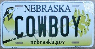 Nummernschild NEBRASKA COWBOY 30x15cm USA Autoschild License Plate Blechschild