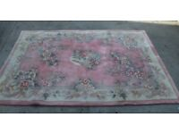 Wool Hand Crafted Rug / Carpet - Extra Large - Vintage