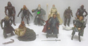 THE LORD OF THE RINGS LOOSE FIGURES DVD STATUES