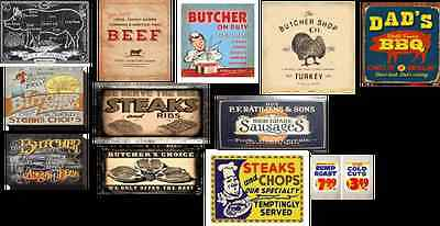 o scale butcher shop building decals