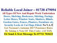 Joiner available - Scone, Perth, Bridge of Earn, Glenfarg, St Madoes, Errol, Inchture, Abernyte Area