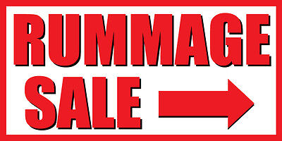 4'x8' Hunt Sale Right Arrow Vinyl Banner Sign - garage, yard, domain