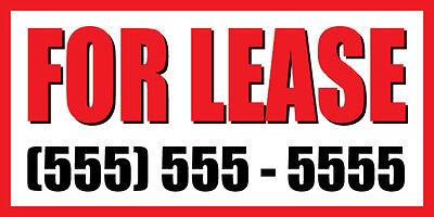 2x4 For Lease Custom Number Sign Vinyl Banner