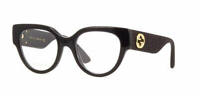 Gucci Women's Cat Eye Optical Frames GG0103O 001 50 Black / Black Optical Frame (Cat Eye Optical Frames)