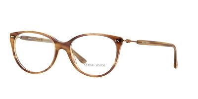 Giorgio Armani AR7023 5180 Brown Round Italy Cat Eye Eyeglasses 52mm