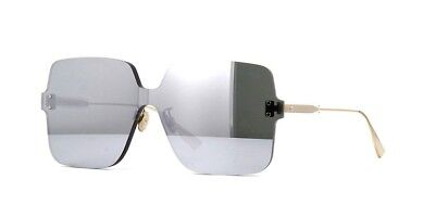 Christian Dior COLORQUAKE 1 Gold Silver Mirror YB7 T4 Women Sunglass Rare Large