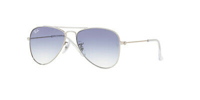 Ray Ban 9506 50 Aviator Junior 212/19 Silver Child Baby Blue Gradient (Baby Blue Ray Bans)