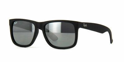 Ray-Ban Sunglasses Justin 4165 622/6G Matt Black Grey Mirror Large 55mm