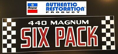 1970 1971 DODGE MODELS 440 SIX PACK AIR CLEANER DECAL Mopar NEW ()