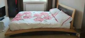 Contemporary double bed frame for sale