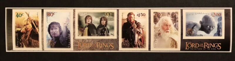 NEW ZEALAND 2003 MNH LORD OF THE RINGS RETURN OF THE KING 6 SELF ADHESIVE STAMPS