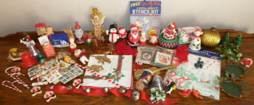 Huge Lot of Vintage Christmas Decorations and Ornaments