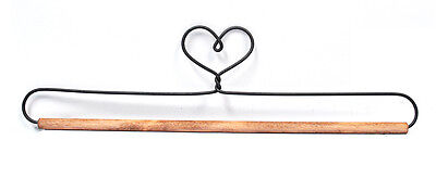 Ackfieldwire Heart 12 Inch Fabric Holder With Dowel