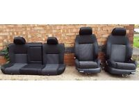 VW GOLF MK4 IV BORA RECARO BUCKET SPORT SEATS 97-05 GREAT CONDITION COMPLETE SET FRONT & BACK DRIVER