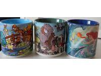 5 Walt Disney Collectors Mugs