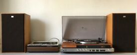 Sony Stereo Music System HMP-70, Stereo Cassette-Corder TC-136SD and Speaker System SS-5177A