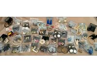 Job lot 50 pairs of vintage retro 1980s earings stored away for 30 years