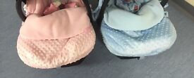 1 car seats foot muffs blue