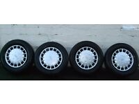 4 x Ford Fiesta wheels and tyres 165/70 R 13