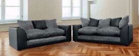 BRAND NEW BYRON CORNER SOFA BEIGE / BROWN PORTO JUMBO CORD SOFA ON CLEARANCE SALE SAME DAY DELIVERY