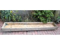 LARGE SOLID WOODEN GARDEN TROUGH PLANTER