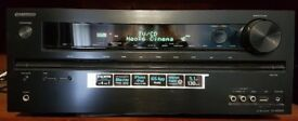 Boxed Onkyo Av Receiver TX NR509 with Jamo speakers and B Tech stands