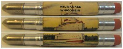 RESTORED Vintage Bullet Pencil - Milwaukee, Wisconsin - Ship CE-1090