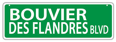 Plastic Street Signs: BOUVIER DES FLANDRES BLVD | Dogs, Gifts
