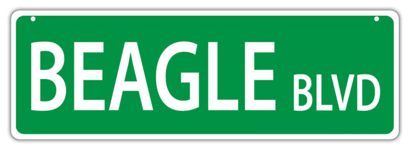 Plastic Street Signs: BEAGLE BLVD   Dogs, Gifts, Decorations