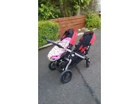 Double Buggy Baby Jogger City Select. Carry Cot conversion kit. Two seats with adapters. Buggy Board