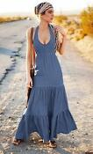 Halter Neck Maxi Dress 16