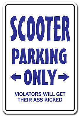 SCOOTER PARKING Sign redneck hillbilly nickname gift Dixie country southern on Rummage