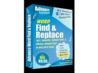 Advance word find and replace software works in batch mode