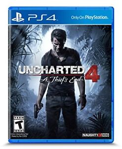 PS4 Uncharted 4 Game Mint in Case