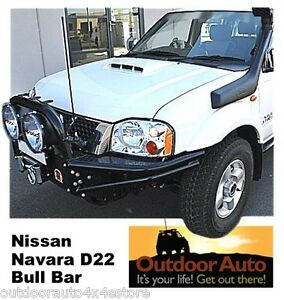 Nissan-Navara-D22-Steel-Bull-Bar-Xrox-airbag-Runva-Winch-compatible-Free-ship