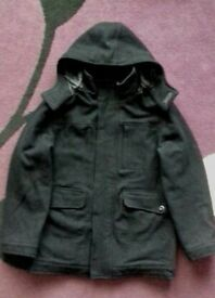Boys Black Wool Blend Coat - Age 11-12 years( sorry for extremely poor photo!)