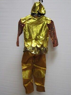 Goldener Prinz Kostüm Arabischer Soldat Größe S Kinder 4 bis 6 Jahre Karneval ()