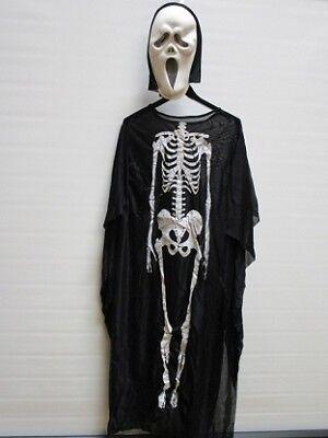 Scary Scream Skelett Tod Kostüm Unisex Erwachsene Einheitsgröße Karneval
