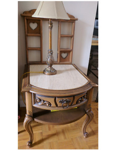 Ceramic top end table