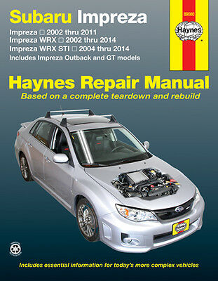 Haynes Workshop Manual for Subaru Impreza 02-11, Impreza WRX 02-14 & WRX STI
