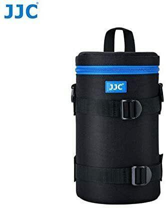 JJC DLP-6II XX-Large- Water Resistant Lens Pouch w/Shoulder Strap - Black & Blue