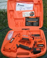PASLODE NEW CORDLESS 18 GA. FINISH NAILER WITH CHARGER ETC