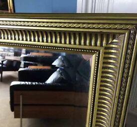 Large Bevelled Edge Mirror in Stunning Decorative Gilt Frame