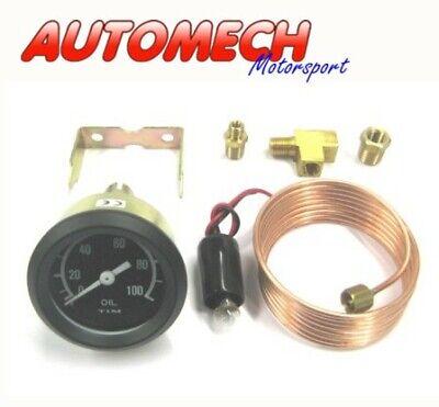 Tim Quality 52mm Mechanical Oil Press Pressure Gauge + Various Fittings FULL KIT