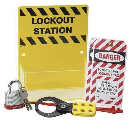 BRADY KT226A Lockout Station,Filled,8 In H