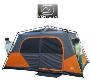 USED VENTURA CABIN TENT 13' X 9' INSTANT CABIN TENT OUTDOORS SHADE CANOPY CAMPING CAMPSITE