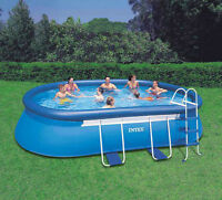 Intex 18ft x 10ft x 42in Oval Frame Pool Set
