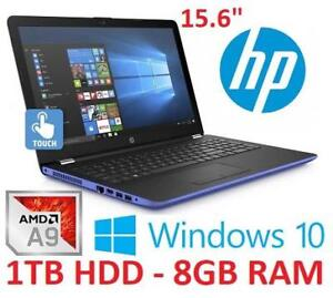 NEW HP 15.6 TOUCH LAPTOP COMPUTER 15-BW084CA 206925067 A9 9420 8GB DDR4 RAM 1TB HDD WIN 10 OS PC