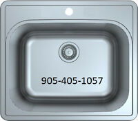 """12"""" DEEP STAINLESS STEEL LAUNDRY TUB - with rim"""