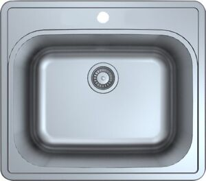 """12"""" Laundry Tub/Sink - Stainless Steel Top mount"""